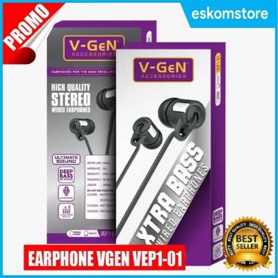 Headset Handsfree V-Gen VEP1-01 Extra Deep Bass HF Vgen Termurah Eskomstore