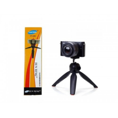Tripod Mini Yunteng YT-228 Gratis Holder U Tripod HP Tripod Camera Tripod Kamera Eskomstore