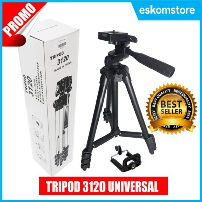 Tripod HP Universal 3120 Black Edition Gratis Holder U Plus Tas Furing Tripod Camera Murah Eskomstore